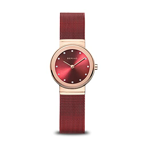 BERING Reloj Analógico Classic Collection para Mujer de Cuarzo con Correa en Acero Inoxidable y Cristal de Zafiro 10126-363