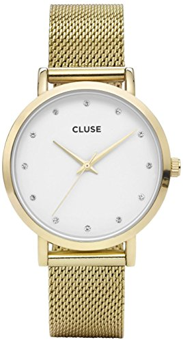 Cluse Reloj Analógico para Mujer de Cuarzo con Correa en Acero Inoxidable CL18302