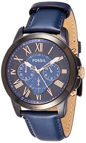 Fossil Reloj Cronógrafo para Hombre de Cuarzo con Correa en Cuero FS5061