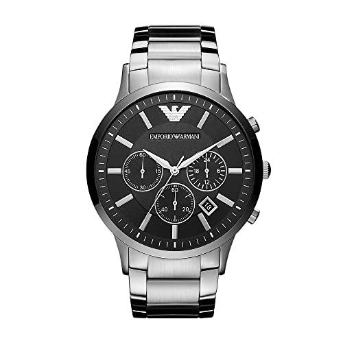 Emporio Armani Reloj Cronógrafo para Hombre de Cuarzo con Correa en Acero Inoxidable AR2460