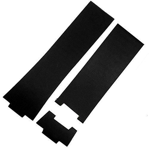 26 mm negro goma correa de reloj banda Compatible con Nardin 353 - 68le-3