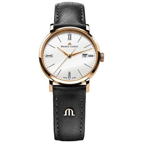 Maurice Lacroix de mujer reloj de pulsera XS Eliros analógico de cuarzo piel el1084de pvp01–110