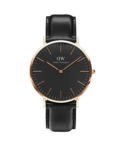 Daniel Wellington–Reloj Hombre 40mm Daniel Wellington Classic Black Sheffield rosa Gold dw00100127