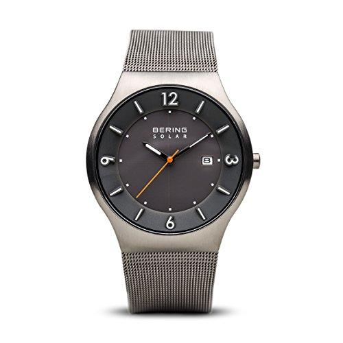 BERING Reloj Analógico para Hombre de Energía Solar con Correa en Acero Inoxidable 14440-077