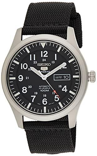 Seiko Reloj Analógico Automático para Hombre con Correa de Tela – SNZG15K1