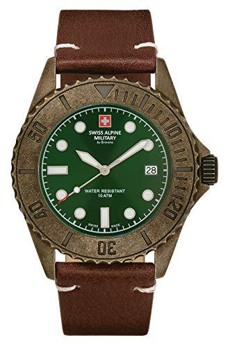 Swiss Alpine Military 7051.1584 Diver Vintage - Reloj de pulsera (41 mm, 10 atm)