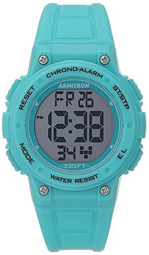 Armitron Sport Reloj digital de la correa de la resina del cronógrafo de la mujer, 45/7086