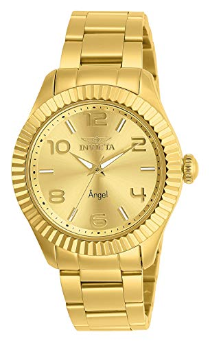 Invicta 27460 Angel Reloj para Mujer acero inoxidable quarzo Esfera oro