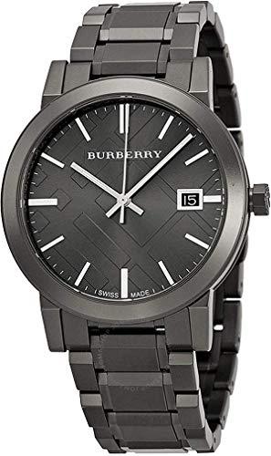 Swiss Rare Gunmetal negro gris fecha dial 38mm Unisex hombres mujeres acero inoxidable reloj de pulsera The City BU9007