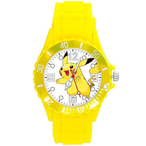 Reloj de cuarzo amarillo banda de silicona para fans de felpa amarillas
