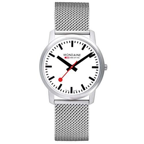 Mondaine Simply Elegant- Reloj de Acero Inoxidable para Hombre y Mujer, A638.30350.16SBM, 41 MM