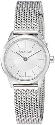 Calvin Klein Reloj Analógico de Cuarzo para Mujer con Correa de Acero Inoxidable – K3M23126