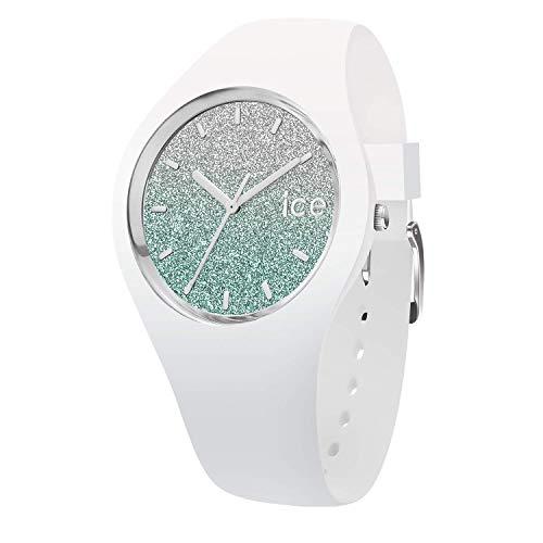 ICE-WATCH ICE Lo White Turquoise - Reloj Blanco para Mujer con Correa de Silicona, 013430 (Medium)
