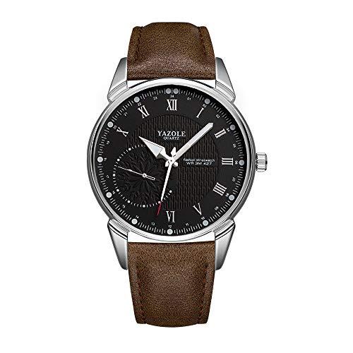Unendlich U-Reloj de Cuarzo Reloj Negro Ultra Fino para Hombre Minimalista Moda Relojes de Pulsera Reloj de Negocios para Hombres Casual Impermeable con Dial de Números Romanos