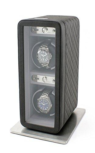 Heiden Monaco - Cargador Doble para Relojes (Piel, Funciona con Pilas o con Adaptador de Corriente alterna)