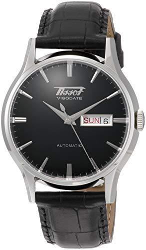 Tissot VISODATE T0194301605101 - Reloj de Mujer de Cuarzo, Correa de Piel Color Beige