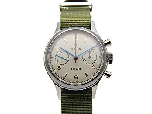 Seagull ST19 Movt Reloj de Pulsera para Hombre, cronógrafo piloto, Cristal de Zafiro, mecánico