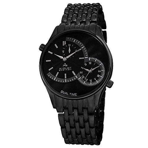 August Steiner Reloj con Movimiento Cuarzo Suizo Negro 42 mm