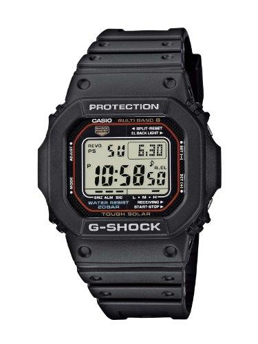 Casio G-SHOCK Reloj Digital, Reloj radiocontrolado y solar, 20 BAR, Negro, para Hombre, GW-M5610-1ER