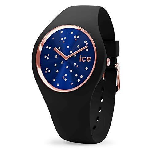 ICE-WATCH ICE Cosmos Star Deep Blue - Reloj Negro para Mujer con Correa de Silicona, 016298 (Small)