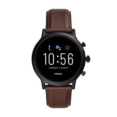 Fossil Smartwatch Pantalla táctil para Hombre de Connected con Correa en Piel FTW4026