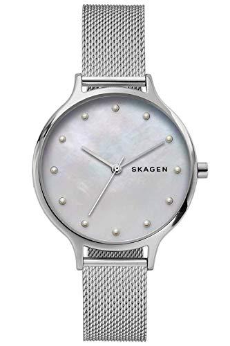 Skagen Reloj Analógico para Mujer de Cuarzo con Correa en Acero Inoxidable SKW2775
