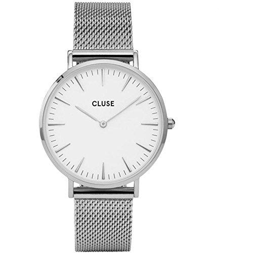 Reloj de pulsera La Boheme de Cluse, para mujer; pulsera de 38mm en acero inoxidable, cuarzo, analógico CL18105
