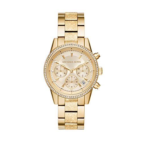 Michael Kors Reloj Cronógrafo para Mujer de Cuarzo con Correa en Acero Inoxidable MK6597