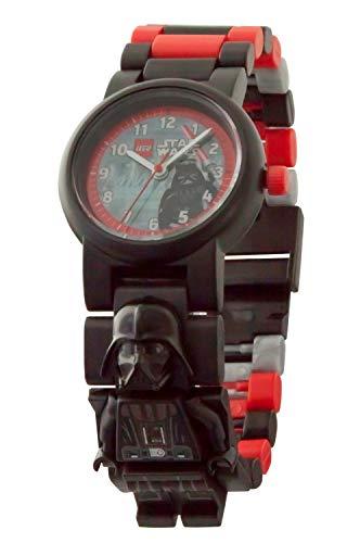 Reloj infantil modificable de LEGO Star Wars. Emblemática figurita de LEGO Darth Vader en la pulsera.