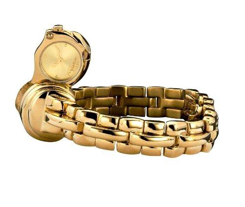 Roberto Cavalli 7253210017 - Reloj analógico de Cuarzo para Mujer, Correa de Acero Inoxidable Color Dorado