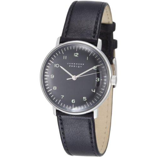 Junghans MAX Bill 027/3702.00 - Reloj de Caballero automático, Correa de Piel Color Negro
