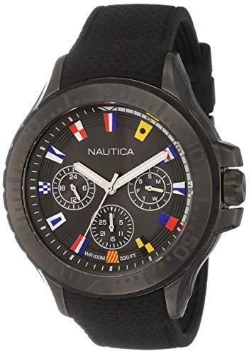 Nautica Reloj Analogico para Hombre de Cuarzo con Correa en Silicona NAPAUC007