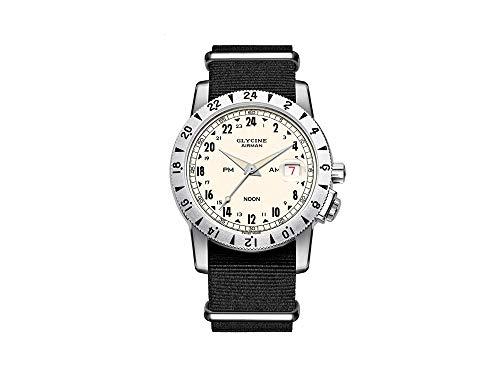 Glycine Airman Reloj para Hombre Analógico de Automático Suizo con Brazalete de Nylon GL0157