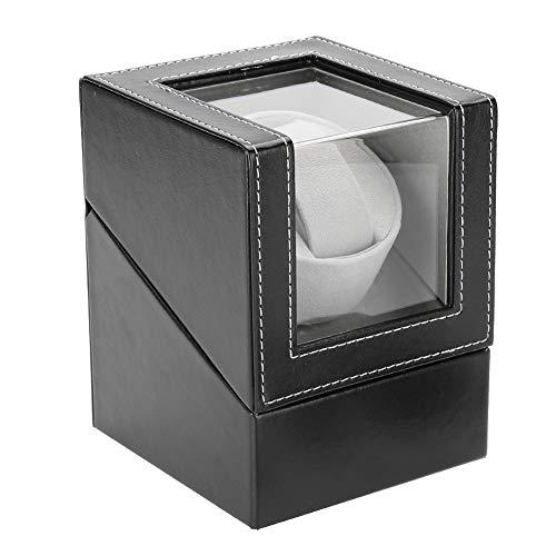 Watch Winder Caja para Relojes Automáticos, Caja Relojes Automaticos Silenciosos Cajas Giratorias con Candado para Relojes Watch Winder Caja Guardar Relojes Mecánicos Hombre