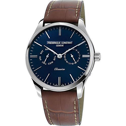 Frederique Constant Geneve Classics Quartz FC-259NT5B6 Reloj de Pulsera para hombres Con pulsera adicional