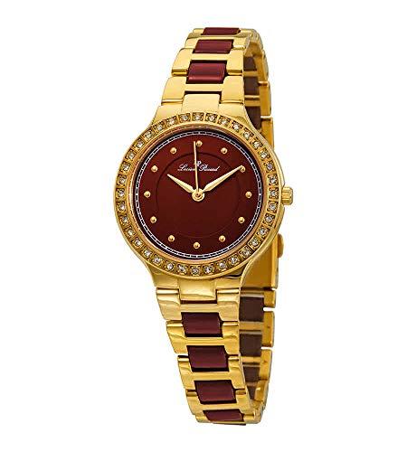 Lucien Piccard Natalie LP-28023-YG-24 - Reloj de mujer con esfera roja
