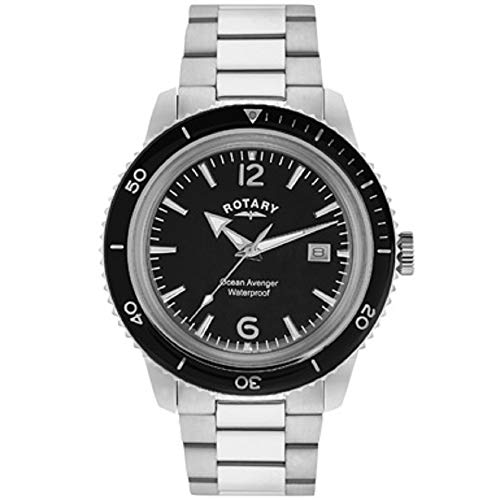 Rotary GB02694/04 - Reloj de Pulsera Hombre, Acero Inoxidable, Color Plateado