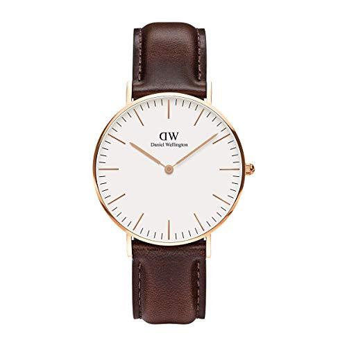 Daniel Wellington Classic Bristol, Reloj Marrón/Oro Rosado, 36mm, Cuero, para Mujer y Hombre