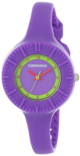 Converse VR023-505 - Reloj analógico de Cuarzo para Mujer, Correa de Silicona Color Morado