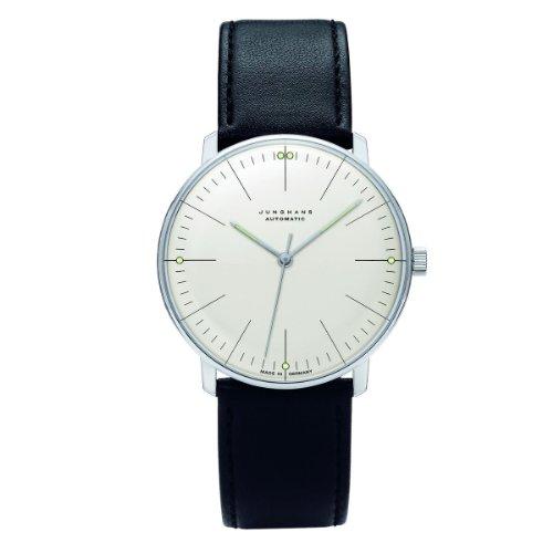 Junghans MAX Bill 027/3501.00 - Reloj de Caballero automático, Correa de Piel Color Negro