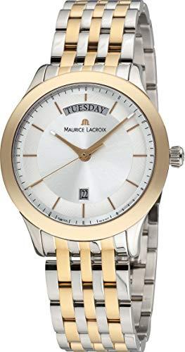 Reloj cuarzo Maurice Lacroix Les Classiques Day / Date, Plata,LC1227-PVY13-130-1