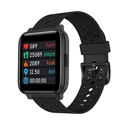 Reloj Inteligente para Hombre Mujer Rastreador de Ejercicios Pantalla Tactil 1.3 Pulgadas Reloj Inteligente Impermeable Banda Inteligente Reloj Unisex Correr para Moviles Android iOS X3C