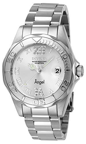 Invicta 14396 Angel Reloj para Mujer acero inoxidable Cuarzo Esfera plata