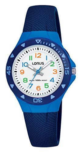 Lorus Reloj Analogico para Niños de Cuarzo con Correa en Plata R2347MX9