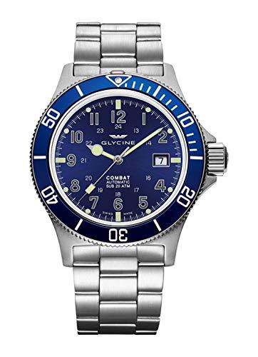 Glycine Combat Sub GL0077-3908.188AT.B1.MB - Reloj de pulsera para hombre (42 fecha, analógico, automático)