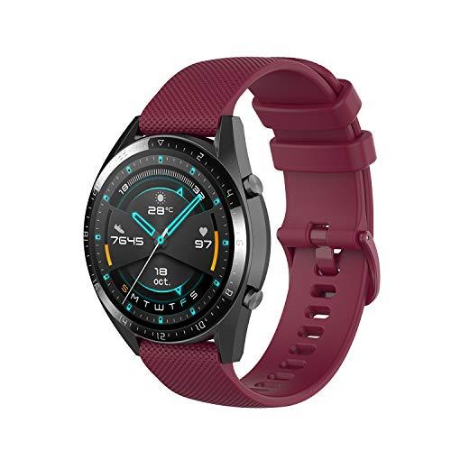 Wownadu 22MM Correa Compatible con Fossil Gen 5, Galaxy Watch 3 45MM Correa, Pulsera Deportiva Silicona Sangría Repuesto Compatible con Garmin Vivoactive 4 (Sin Reloj)