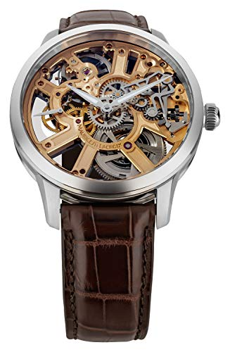 Maurice Lacroix Masterpiece Squelette - Reloj (Reloj de pulsera, Masculino, Acero inoxidable, Acero inoxidable, Cuero, Marrón)