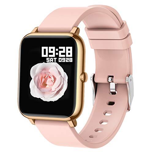 Popglory Smart Watch, Reloj Inteligente con Oxígeno Sanguíneo Presión Arterial Frecuencia Cardíaca, Pulsera Actividad Impermeable IP67 para Hombre Mujer para Android iOS