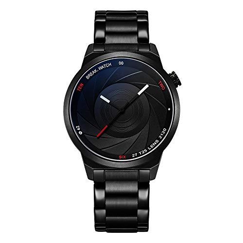 Reloj de pulsera Break de cuarzo, unisex, estilo cámara
