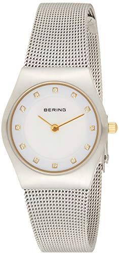 BERING Reloj Analógico Classic Collection para Mujer de Cuarzo con Correa en Acero Inoxidable y Cristal de Zafiro 11927-004